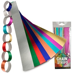 Transform the ordinary into the extraordinary with metallic foil strips from Hygloss Products.